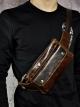 กระเป๋าคาดเอว หรือ กระเป๋าคาดอก ผู้ชาย ผลิตจากหนังวัวแท้ ใส่โทรศัพท์ ไอแพท และอุปกรณ์พกพาต่างๆ
