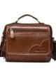 กระเป๋าสะพายข้าง กระเป๋าผู้ชาย กระเป๋าถือ สามารถใส่ไอแพทและอุปกรณ์ต่างๆได้เยอะ หนังวัวแท้ทั้งใบ