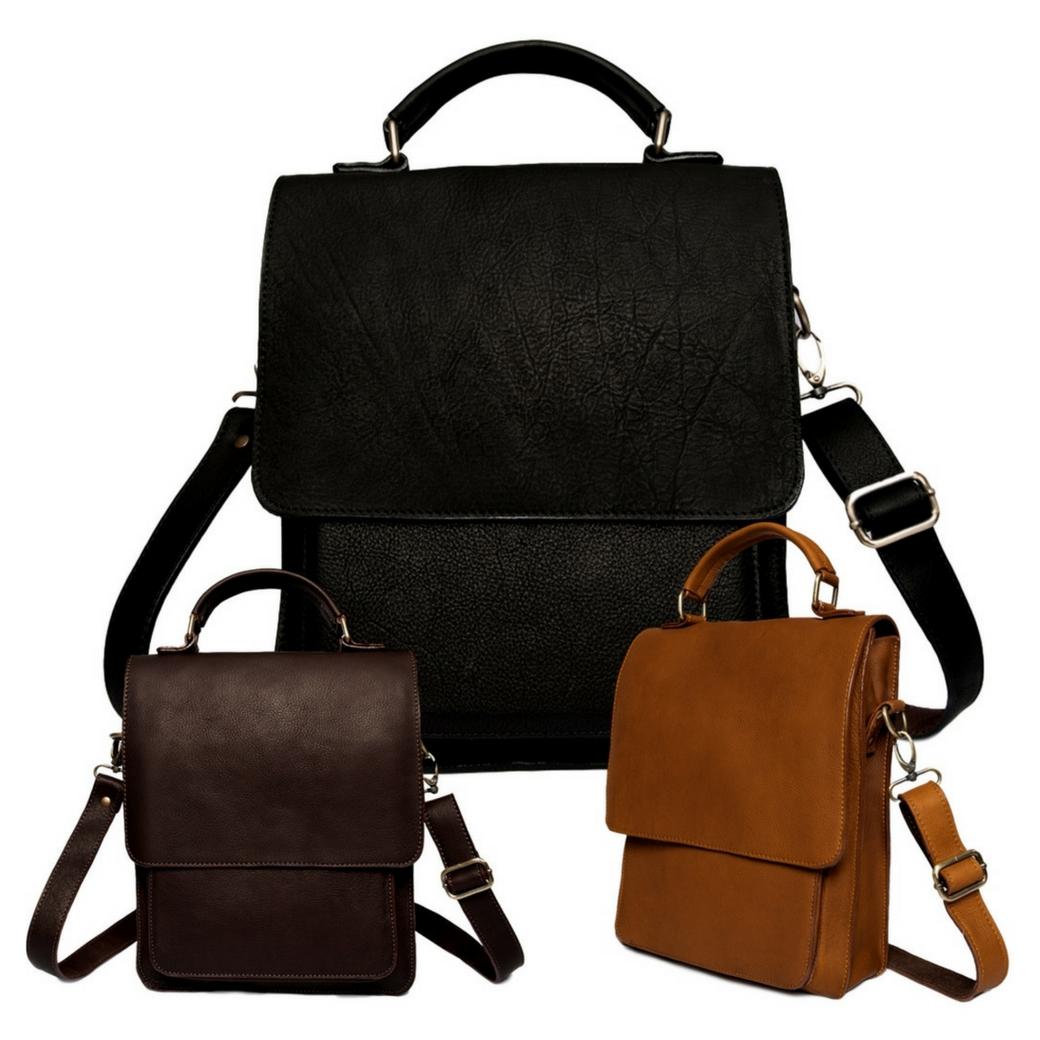 กระเป๋าสะพายข้างผู้ชาย กระเป๋าถือ กระเป๋าเอกสารแฟ้มขนาด A4 กระเป๋า Note Book ขนาดไม่เกิน 14นิ้ว เป็นกระเป๋าหนังแท้