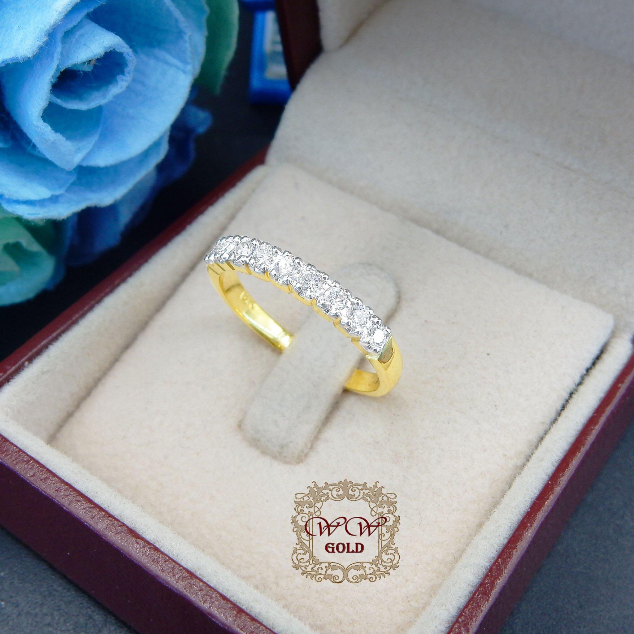 แหวนแถวเพชรแท้ (Size M)
