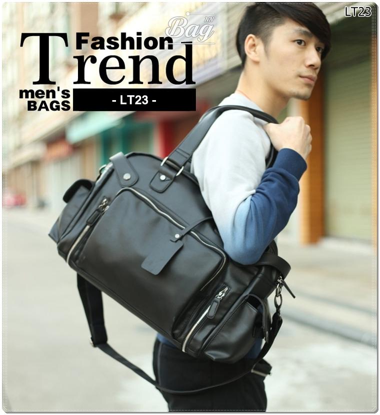 กระเป๋าสะพายข้าง หนัง PU สีดำ | LT23