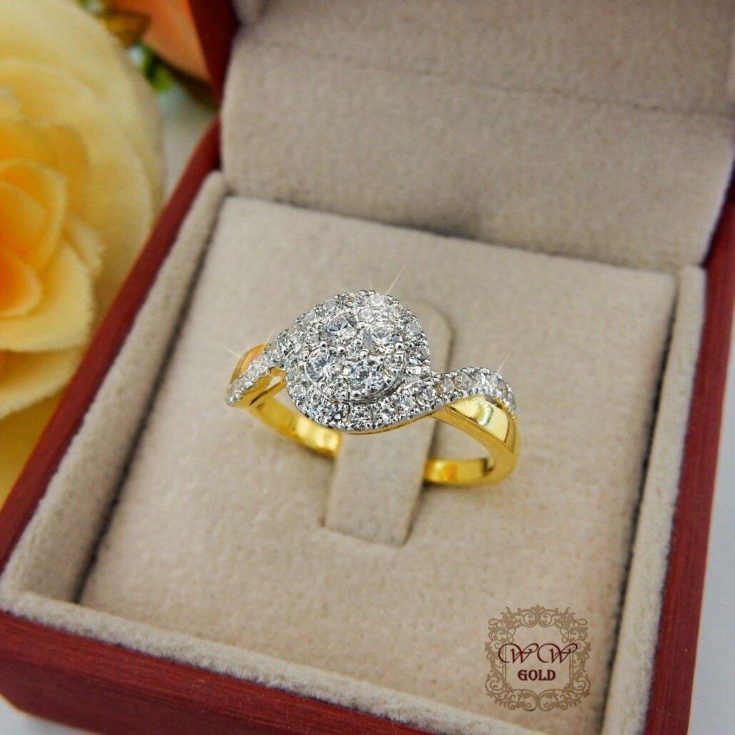 แหวนเพชรประกบ เรียงสวยระยิบ