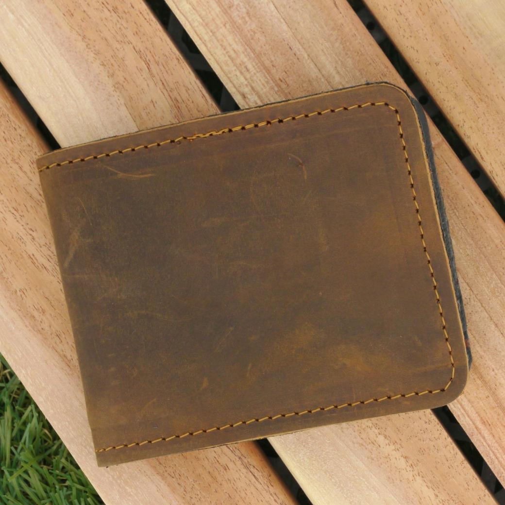 กระเป๋าสตางค์ผู้ชาย กระเป๋าใส่บัตร หนังแท้นูบัค เหมาะสำหรับท่านที่ซื้อไปเป็นของขวัญหรือว่าใช้เองก้อดี