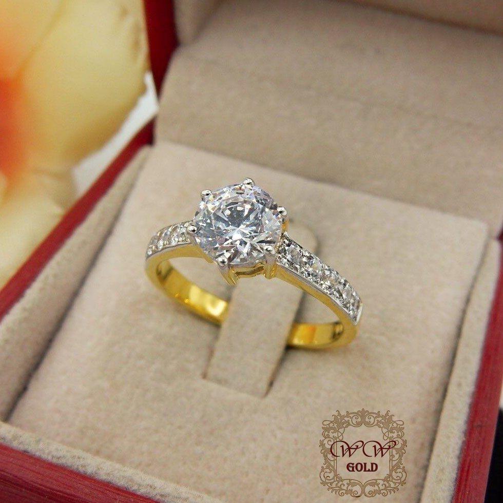 แหวนชู 1 กะรัต (เพชรสวิส cz)