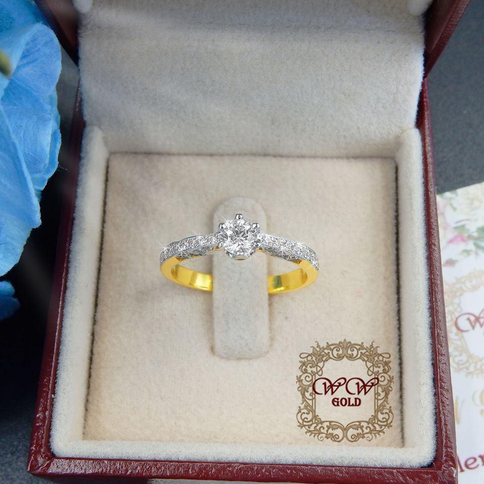 แหวนเพชรดีไซน์หัวชู สไตล์คลาสสิค (เก๋น้อย)