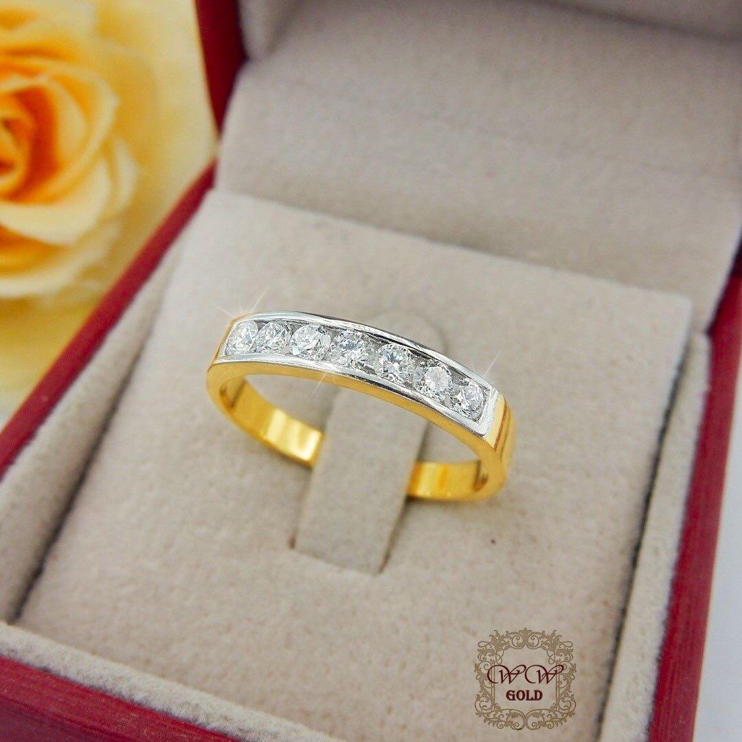แหวนเพชรแถวเรียงสวย