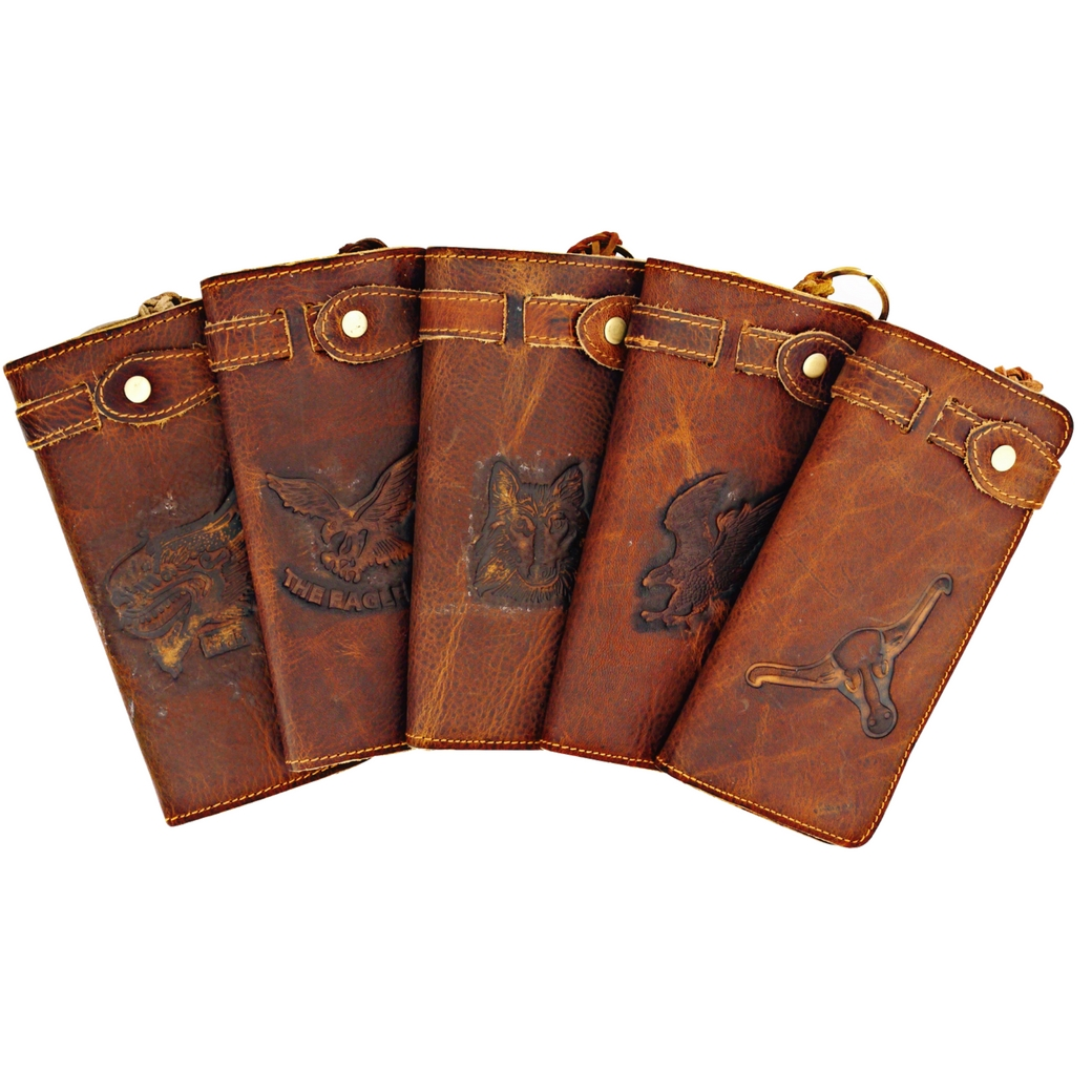 กระเป๋าสตางค์ เป็นกระเป๋าแบบยาว 2 ทำมาจากหนังแท้ แบบสำหรับผู้ชาย สไตล์วินเทจ และสตรีท