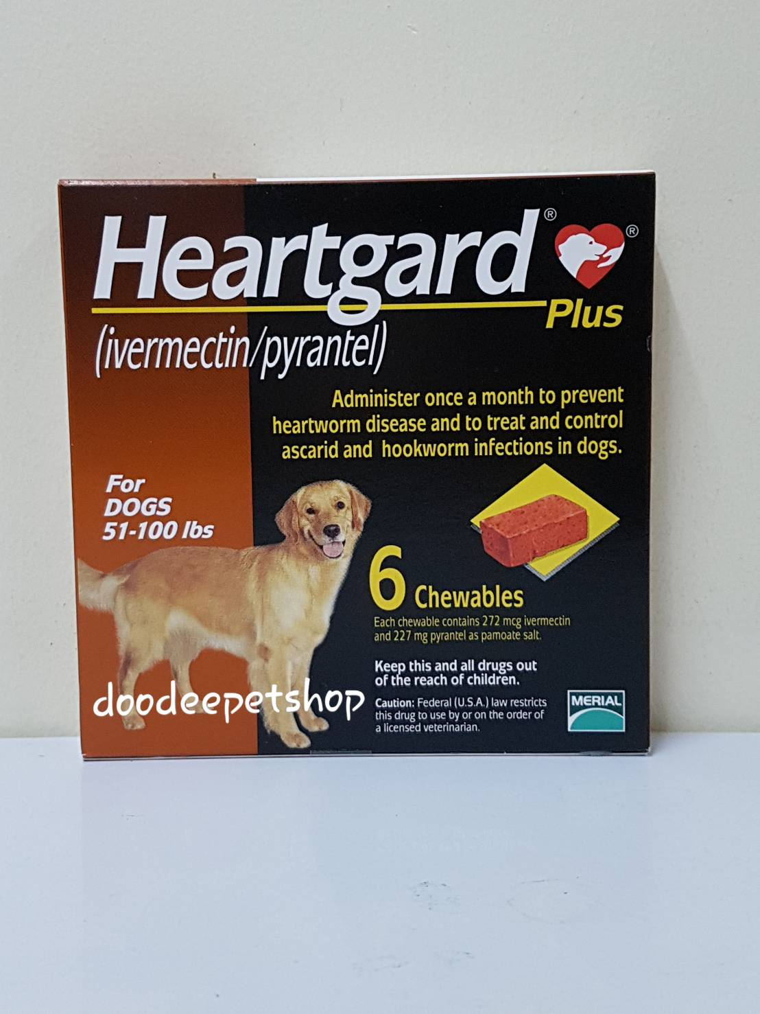 Heartgard นน.ไม่เกิน 22- 45 กก. Exp.08/19