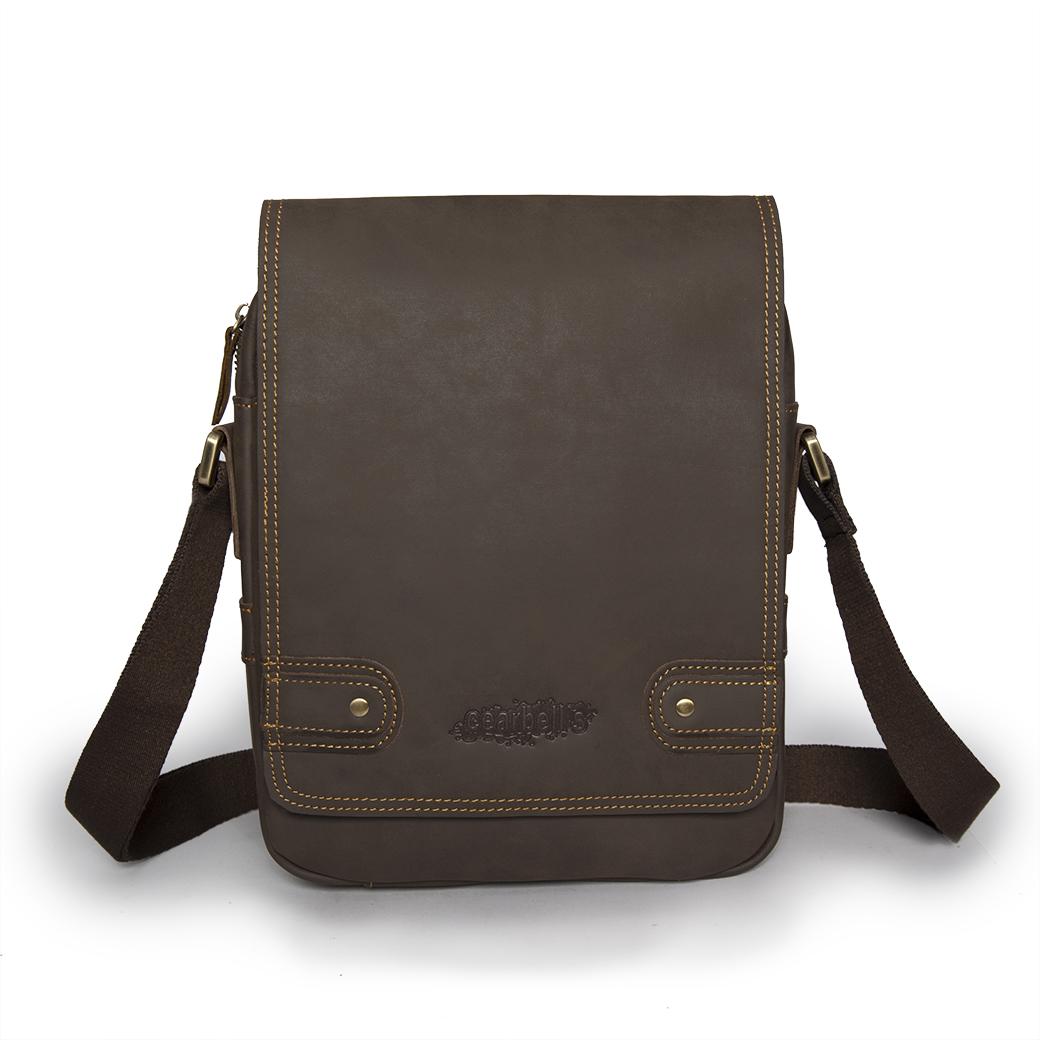 กระเป๋าสะพายข้าง ผู้ชาย เป็นกระเป๋าหนังแท้ (นูบัค ) พกพาสะดวกทุกสถานการณ์ โทนสีน้ำตาล