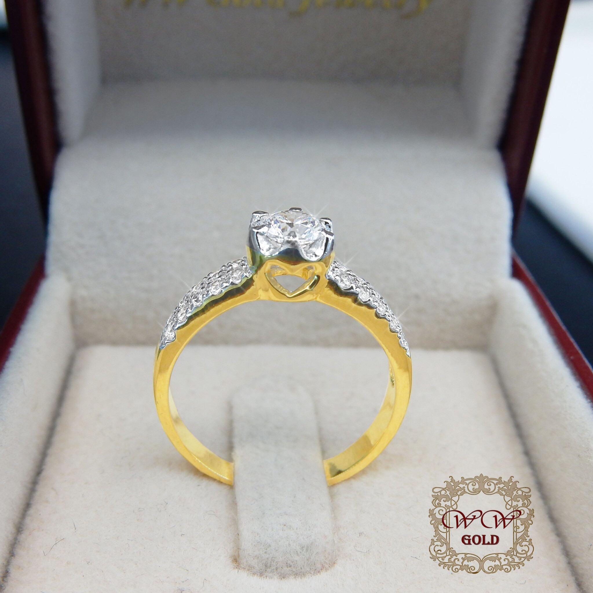 แหวนเพชรดีไซน์ หัวชู