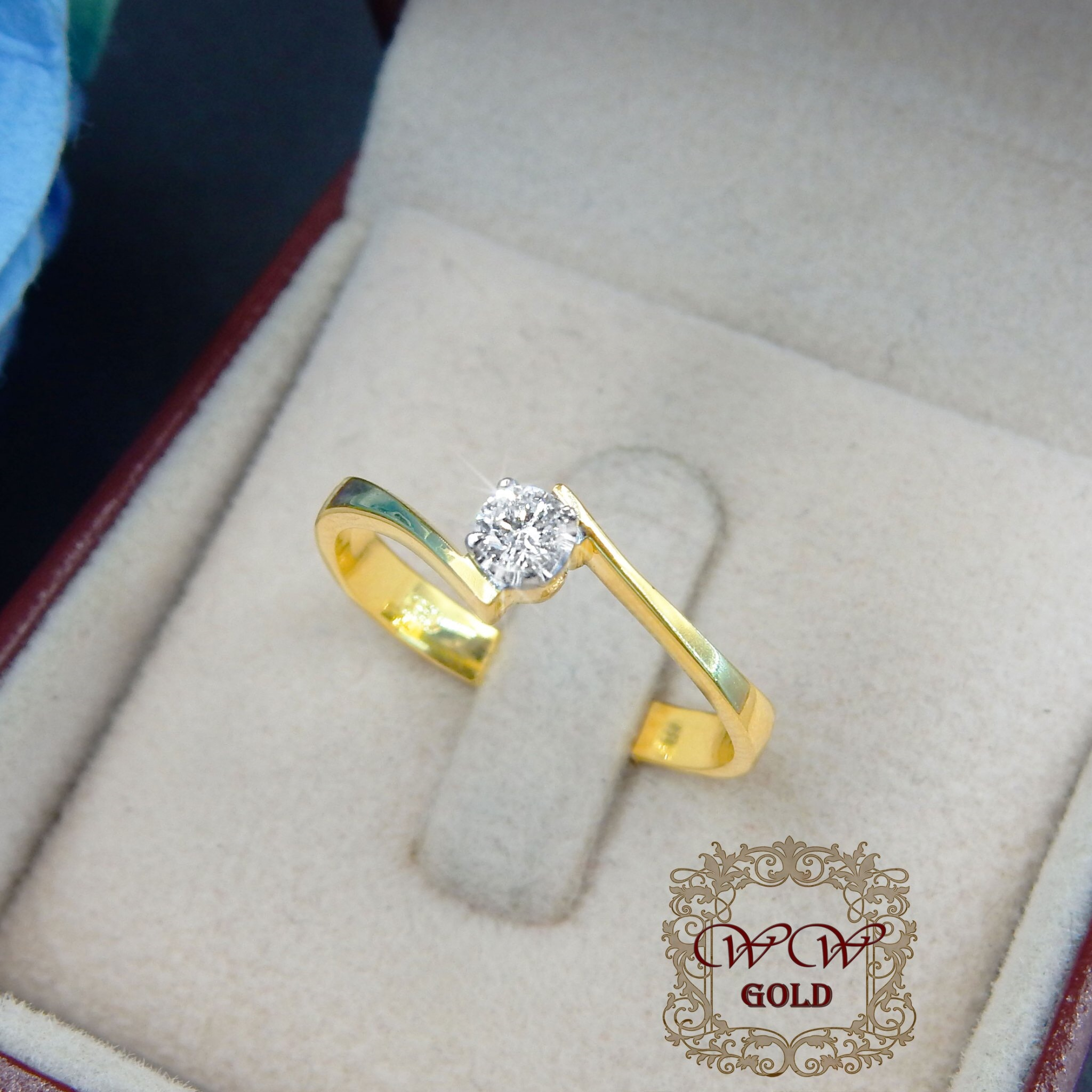 แหวนเพชรเบลเยี่ยม (เม็ดเดียว)