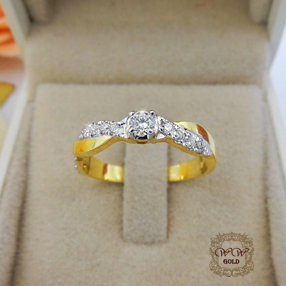 แหวนเพชรเบลเยี่ยม (ไขว้)