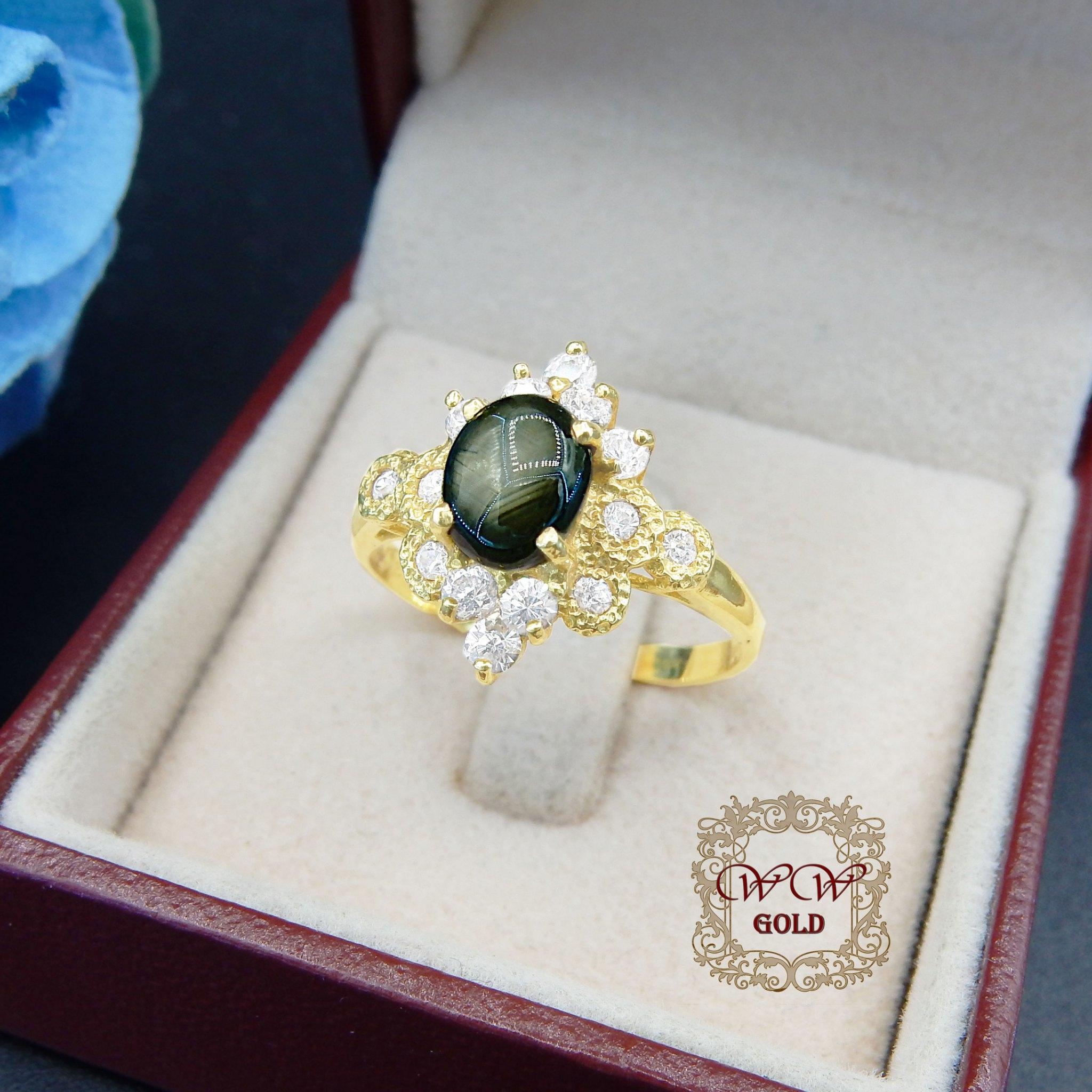 แหวนประดับพลอย (Star Sapphire)