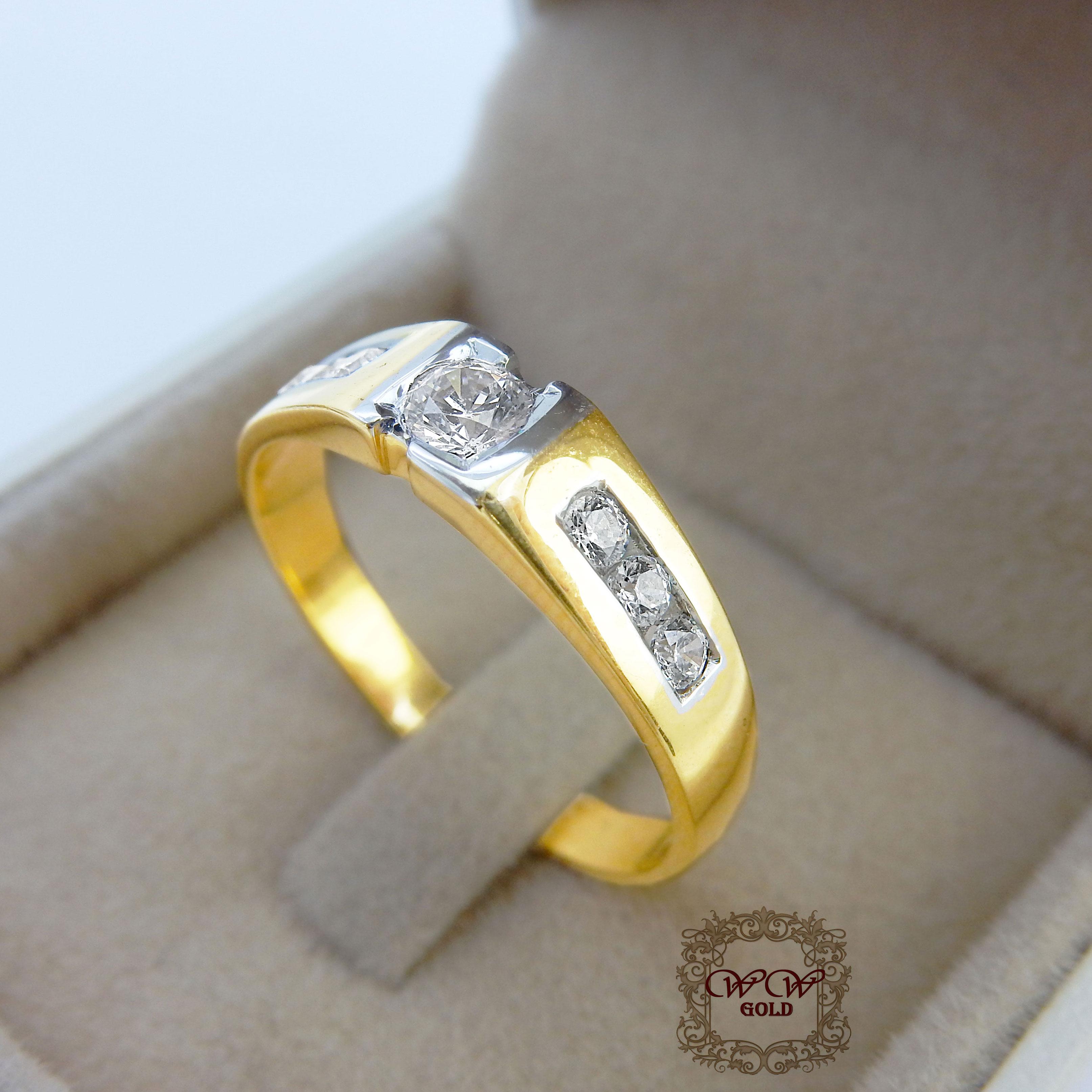 แหวนผู้ชาย (เพชรสวิส cz)