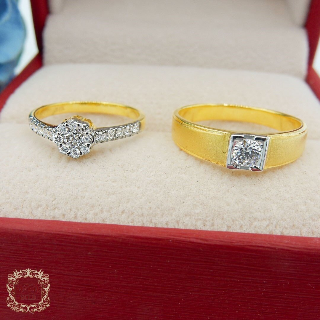แหวนคู่เพชรแท้