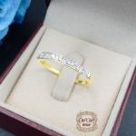 แหวนแถวเพชรแท้