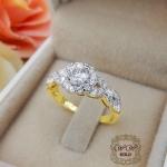 แหวนดีไซน์เพชรประกบ เรียงสวยระยิบ