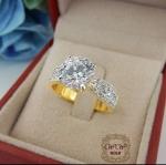 แหวนเพชรชู เพชรสวิส cz เม็ดกลาง 2 กะรัต