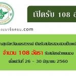 สำนักงานสาธารณสุขจังหวัดนครสวรรค์ เปิดรับสมัครสอบสอบเป็นพนักงานสาธารณสุข จำนวน 108 อัตรา ตั้งแต่วันที่ 26 - 30 มิถุนายน 2560