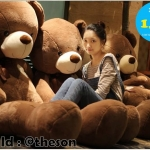 ตุ๊กตาหมีพรีเมียม ปัก LOVE ที่หัวใจ ขนาด 1.8 เมตร