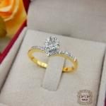 แหวนเพชรดีไซน์ดอกไม้ (เพชรสวิส cz)