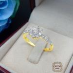 แหวนดีไซน์เพชรประกบ เรียงสวยระยิบ (ดอกพิกุล)