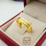 แหวนพ่นทรายเรียบหรู (เพชรแท้)