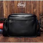 กระเป๋าสะพายข้าง หนัง PU สีดำ | LT28