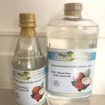 น้ำมันมะพร้าวบริสุทธิ์ สกัดเย็น ธรรมชาติ 100% Sz.1 ลิตร+450 มล.