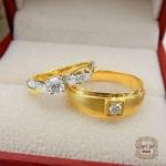 แหวนคู่แต่งงาน (เพชรเบลเยี่ยมแท้)