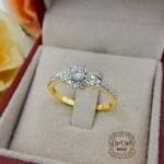 แหวนเพชรประกบ ก้านแหวนดีไซน์หัวใจ