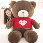 ตุ๊กตาหมีใส่เสื้อ ปัก LOVE ขนาด 1.8 เมตร