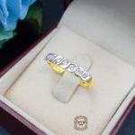 แหวนเพชรแถว ขอบแหวนโค้งสวย