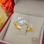 แหวนเพชรหัวชู มงกุฎ 1 กะรัต(เพชรสวิสCZ)