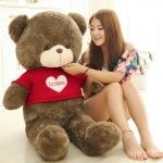 ตุ๊กตาหมีใส่เสื้อ ปัก LOVE ขนาด 1.4 เมตร