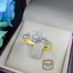 แหวนดีไซน์เพชรประกบ เรียงสวยระยิบ (Hat 2)