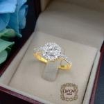 แหวนดีไซน์เพชรประกบ เรียงสวยระยิบ (HAT1)