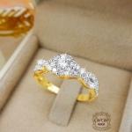 แหวนเพชรเบลเยี่ยม (ก้านเกลียว)