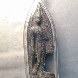 พระกรุ ปางลีลา ศิลปสุโขทัย เนื้อชินอุทุมพร(เขียว) 1500/-