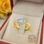 แหวนเพชรเม็ดเดียว 1 กะรัต (เพชรสวิส cz) thumbnail 1