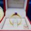 แหวนประดับพลอยสีม่วง+เพชรสวิส cz thumbnail 3