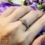 แหวนประกบดีไซน์ดอกไม้ ก้าน 2 แถว (เพชรเบลเยียมแท้) thumbnail 5