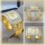 แหวนนามสกุลทองแท้ 18K แบบล้อมเพชร (หน้ากว้าง) thumbnail 1