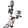 Aluminum Alloy CNC diving Handle Grip Monopod Arms Mount for Gopro