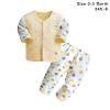 ชุดนอนเด็กอ่อน สีเหลือง กางเกงขาวลายจุด