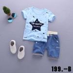 ชุดเด็กน่ารัก เสื้อสีฟ้าลายดาว กางเกงน้ำเงิน สำเนา