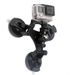 Triple Angle Camera Sucker Mount Holder